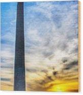 Sunset Washington Monument Wood Print