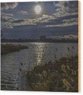 Sunset,lake Wood Print