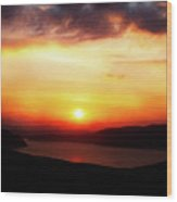 Sunsetting Over Portree, Isle Of Skye, Scotland No.2. Wood Print