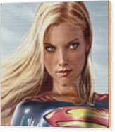 Supergirl Collection Wood Print