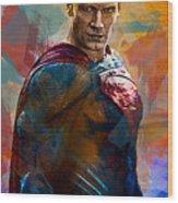 Superhero.superman. Wood Print