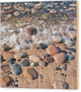 Surf And Stones Wood Print