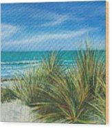Surf Beach Wood Print