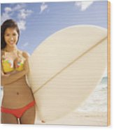 Surfer Girl Wood Print by Sri Maiava Rusden - Printscapes