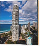 Surfers Paradise View Wood Print