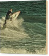 Surfing - Jersey Shore Wood Print