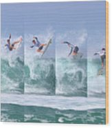 Surfing Sequence Wood Print