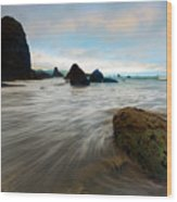 Surrounded By The Tides Wood Print
