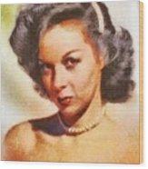 Susan Hayward, Vintage Hollywood Actress Wood Print