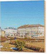 Susanin Square In Kostroma Wood Print