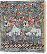 Swan Elephant Wood Print