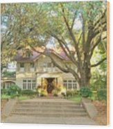 Swiss Avenue Historic Mansion Dallas Texas Wood Print