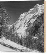 Swiss Winter Mountains Wood Print
