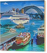 Sydney Quay Wood Print