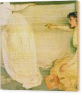 Symphony In White No 3 James Abbott Mcneill Whistler Wood Print