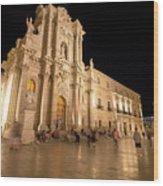 Syracuse, Sicily, Italy - Ortigia Downtown In Syracuse By Wood Print