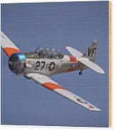 T6 At Reno Air Races Wood Print