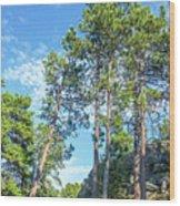 Tall Pine Trees Wood Print