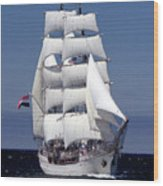 Tall Ship Europa Wood Print