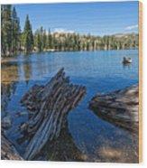 Tamarack Lake Wood Print