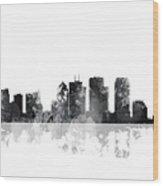 Tampa Florida Skyline Wood Print