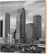 Tampa The Downtown Wood Print