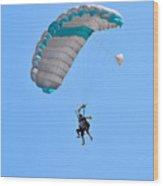 Tandem Paragliding Wood Print