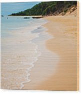 Tangalooma Island Beach In Moreton Bay.  Wood Print
