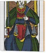 Tarot Card Justice Wood Print