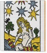 Tarot Card The Stars Wood Print