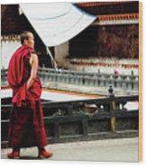 Tashilhunpo Monastery Shigatse Tibet Yantra.lv  Wood Print