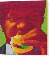 Tasty Burger Wood Print