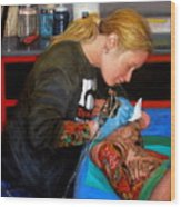 Tattoo 1 Wood Print