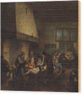 Tavern Scene Wood Print