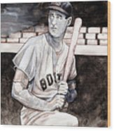 Ted Williams Wood Print by Dave Olsen