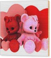 Teddy Bearz Valentine Wood Print