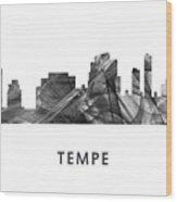 Tempe Arizona Skyline Wood Print