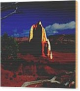 Temple Of The Moon 2 Wood Print by John Foote