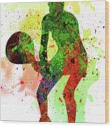 Tennis Player Wood Print
