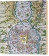 Tenochtitlan (mexico City) Wood Print