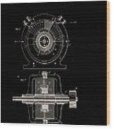 Tesla Generator Patent 1891 Wood Print