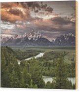 Teton Drama Wood Print