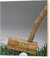 Texas Golf Putter. Wood Print