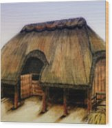 Thatched Barn Of Old Wood Print
