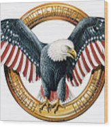 The American Eagle Wood Print