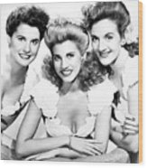 The Andrews Sisters Wood Print by Granger