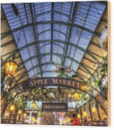 The Apple Market Covent Garden London Wood Print