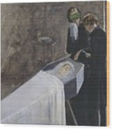 The Artist Attending The Mourning Of A Young Girl Wood Print