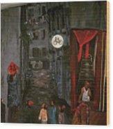 The Backlane Wood Print