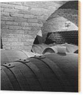 The Barrel Room Wood Print